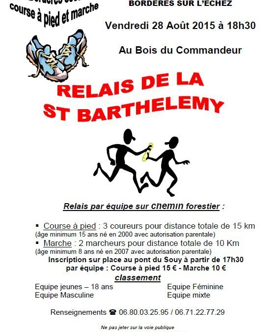 Relais de la Saint Barthélémy – Bordères sur l'Echez – 28 Août