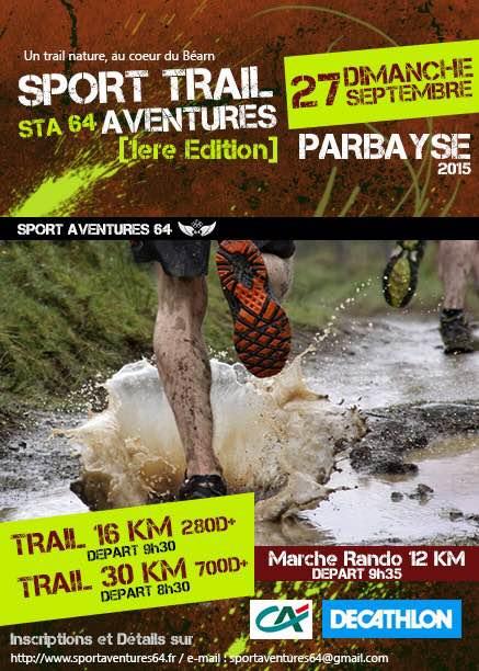 Sport Trail Aventure 64 – 27 septembre – Parbayse