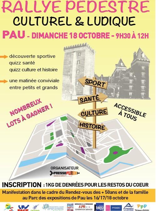 Rallye pédestre – 18 octobre – Pau