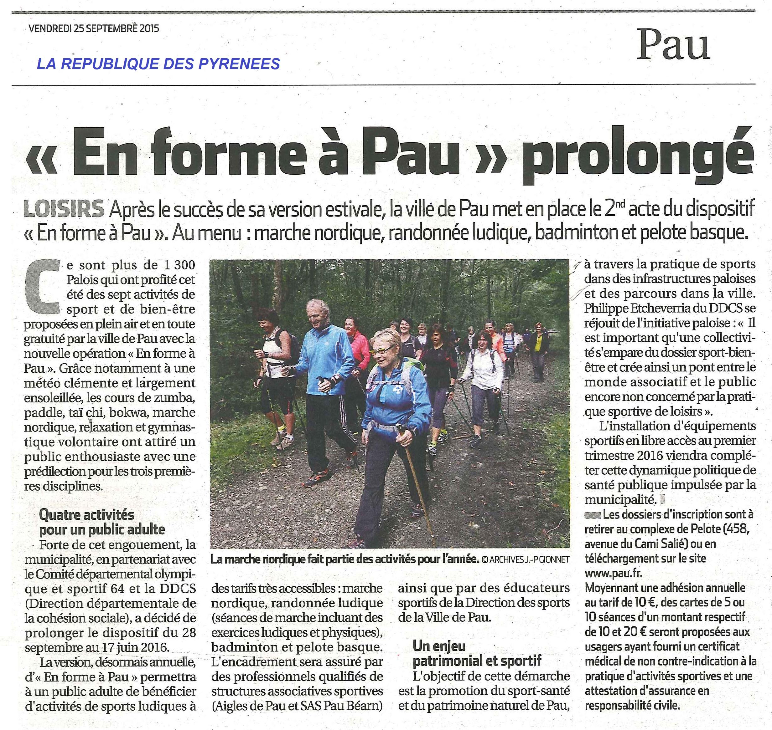 En forme a Pau