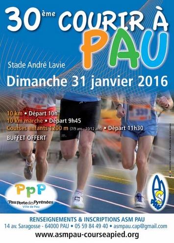 Courir à Pau – 31 janvier 2016