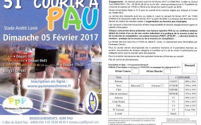 Courir à Pau – 5 février 2017